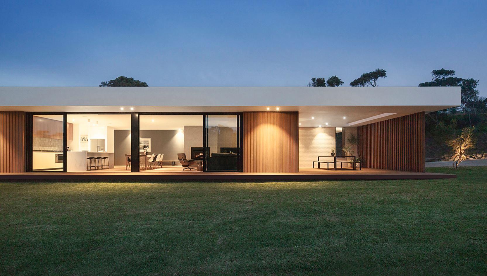 Fachadas acristaladas for Modelos de casas minimalistas pequenas