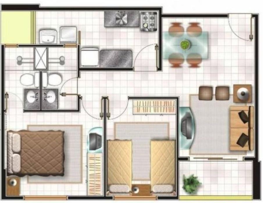 casa 50 metros cuadrados simple casa pequea y moderna de
