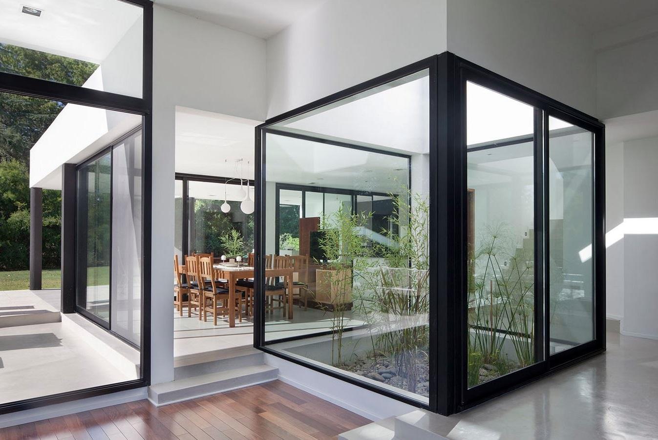 Planta casa minimalista plano de planta inferior les for Fotos de patios con piletas