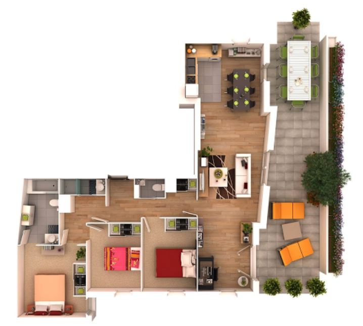 Planos y casas planos de casas plantas arquitect nicas for Casas en ele planos