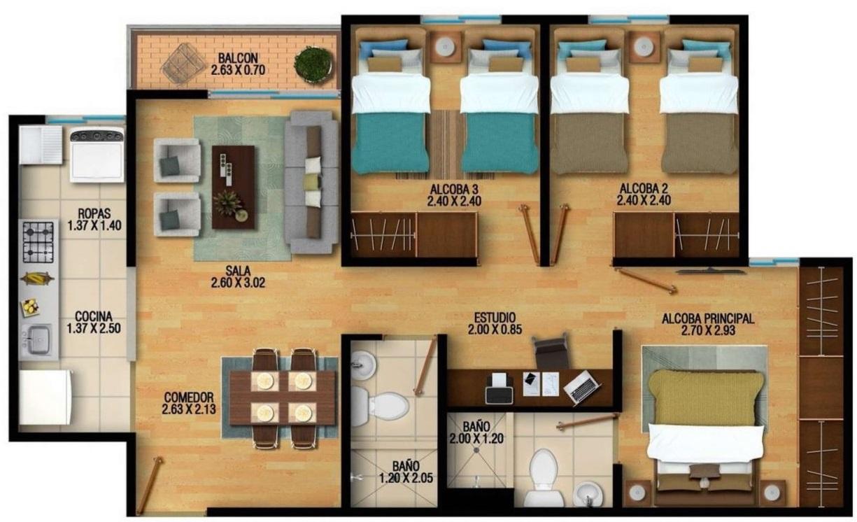 Planos y casas planos de casas plantas arquitect nicas fachadas de viviendas de 1 y 2 pisos for Casas pequenas y comodas