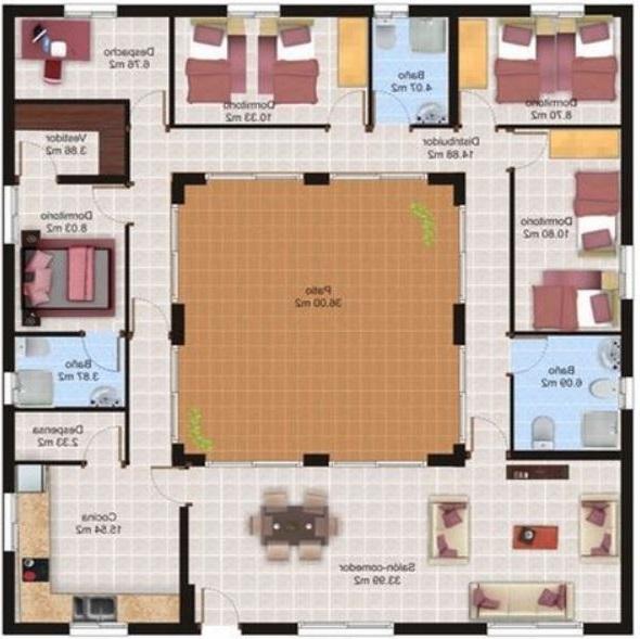 Fotos casas minimalista con patio interno y modernas de for Casas con planos y fotos