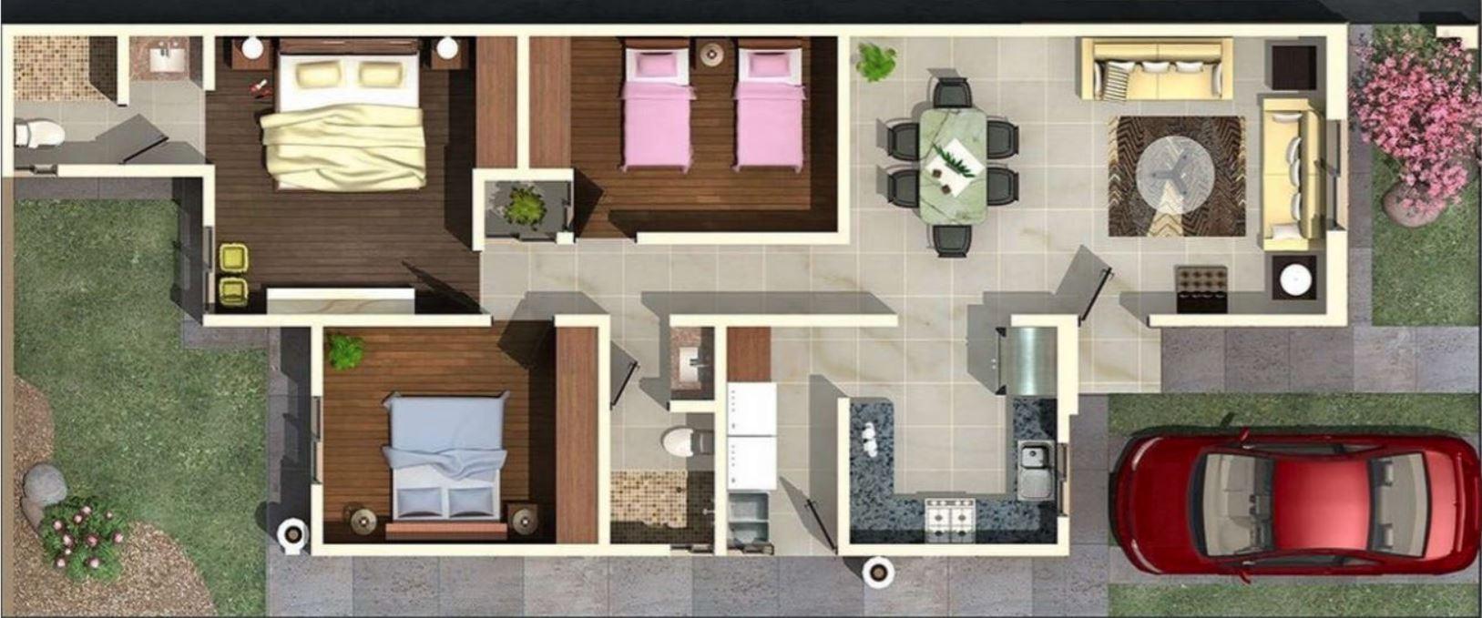 Planos y casas planos de casas plantas arquitect nicas fachadas de viviendas de 1 y 2 pisos - Planos de casas de una planta ...