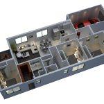 4 Planos de casas en 3d con 3 dormitorios