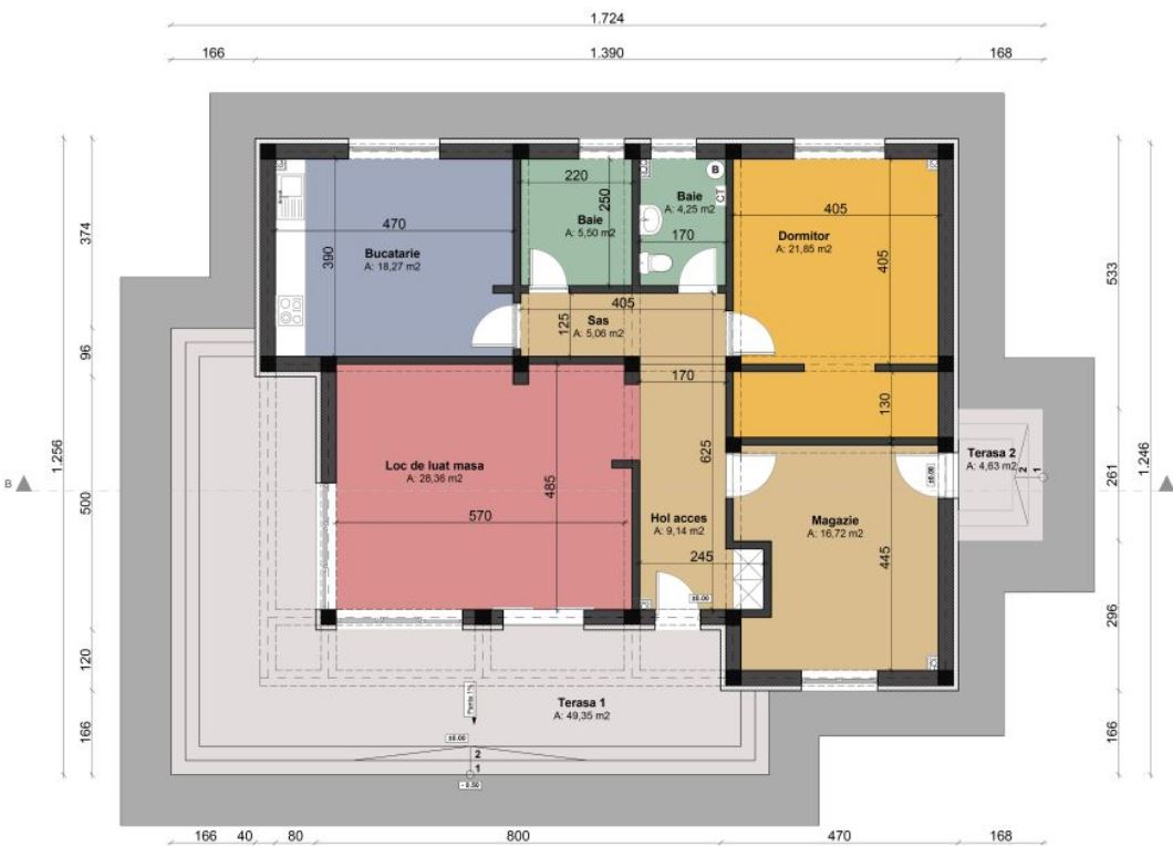 Plano De Casa Minimalista De 14x10 Metros