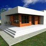 Plano de casa minimalista de 14×10 metros