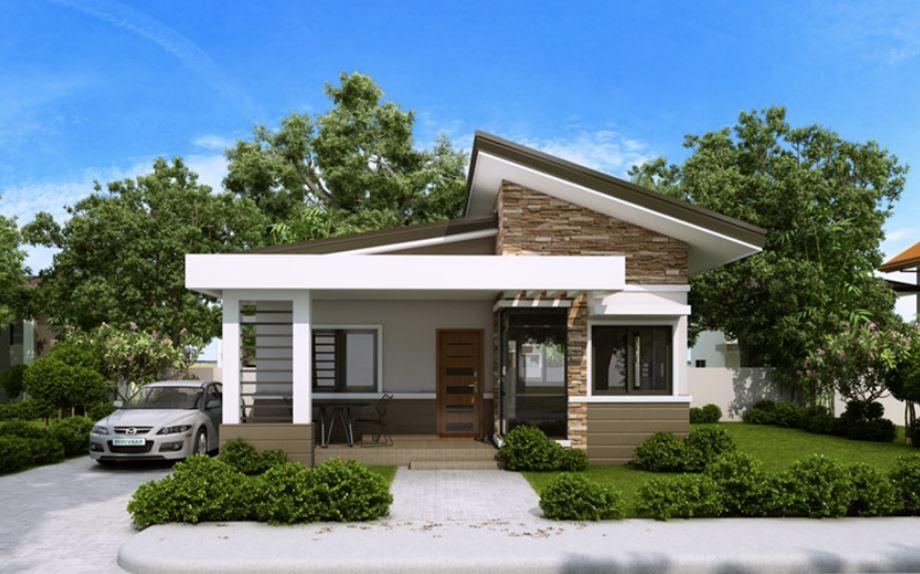 Plano casa moderna dos dormitorios for Casas modernas un nivel