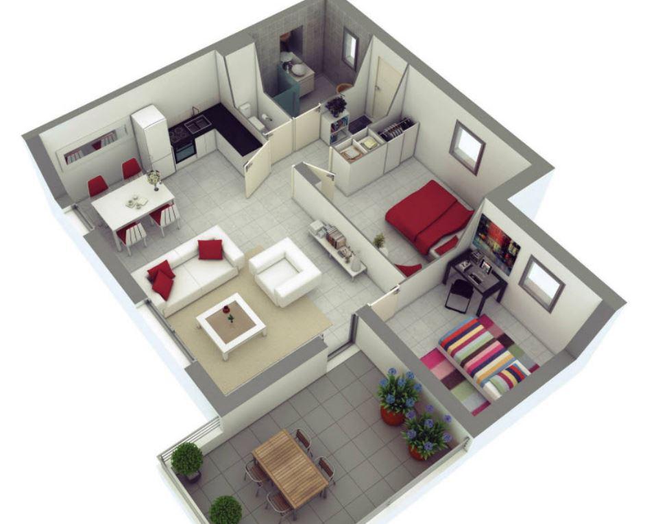 El cuarto modelo de apartamento minimalista que te for Dormitorios minimalistas pequenos