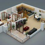 Planos de departamentos pequeños minimalistas