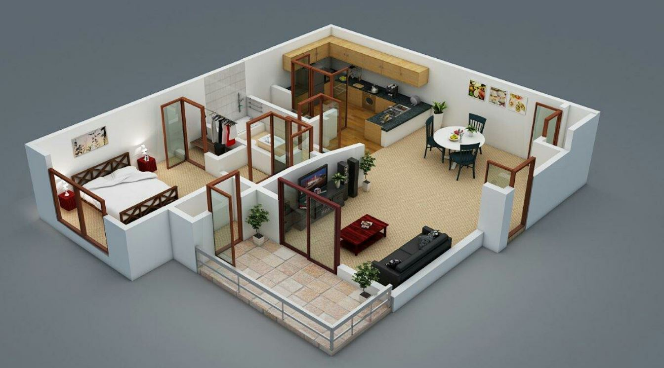 Planos De Departamentos Pequenos Minimalistas on family room open floor plan