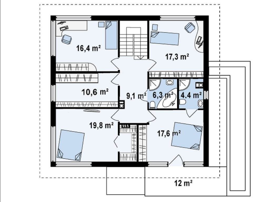 Planos de casas de dos pisos con medidas en metros reales for Planos de casas de dos pisos con medidas
