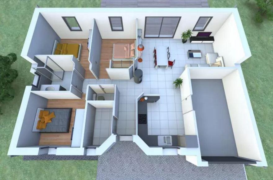 Casas de entre 70 y 80 metros cuadrados